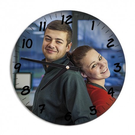 Horloge mural en aluminium