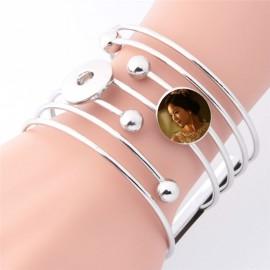 Bracelet fantaisie argenté