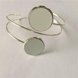 Bracelet fantaisie  deux cercles