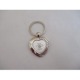 Porte-clés métallique gravé chouette