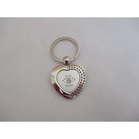 Porte-clés métallique gravé