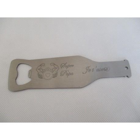 décapsuleurs en métal graver